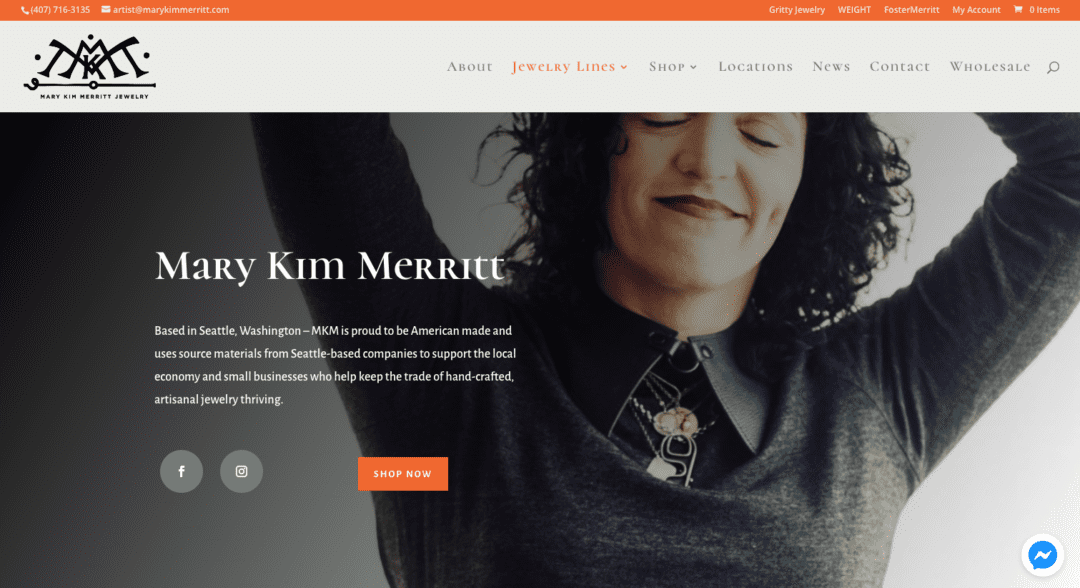 Mary Kim Merritt Website Design