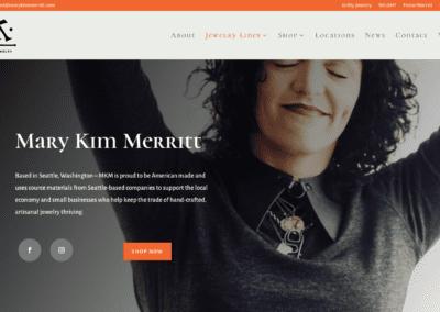 Mary Kim Merritt Website Design